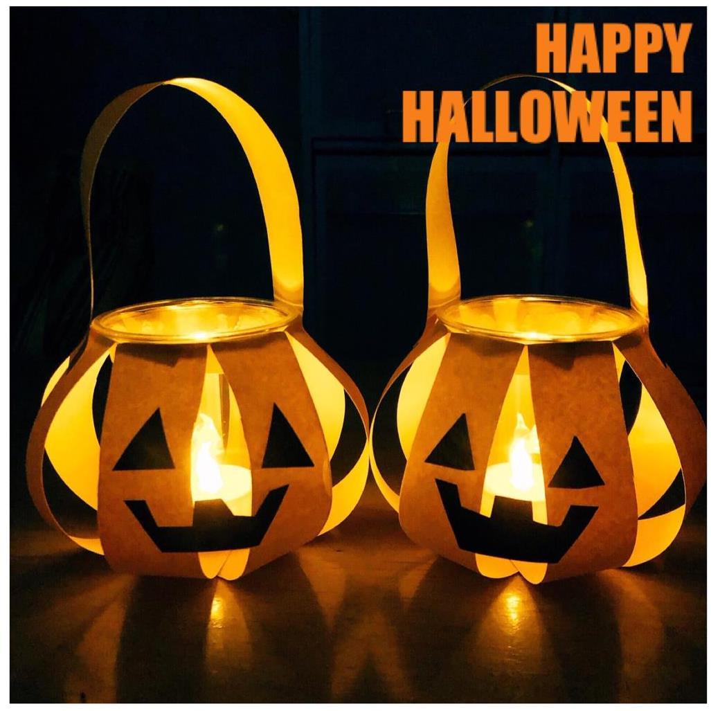Slider: 【ハロウィンナイト】手持ちランタン作り ~キャンディバッグにもなるかぼちゃランタン~