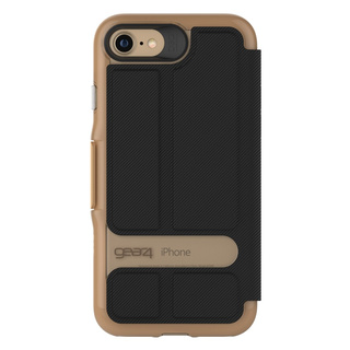 【iPhone7 ケース 手帳型】 GEAR4 D3O Oxford (Gold)
