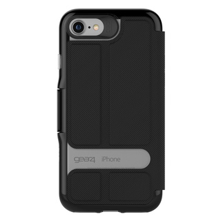【iPhone7 ケース 手帳型】 GEAR4 D3O Oxford (Black)