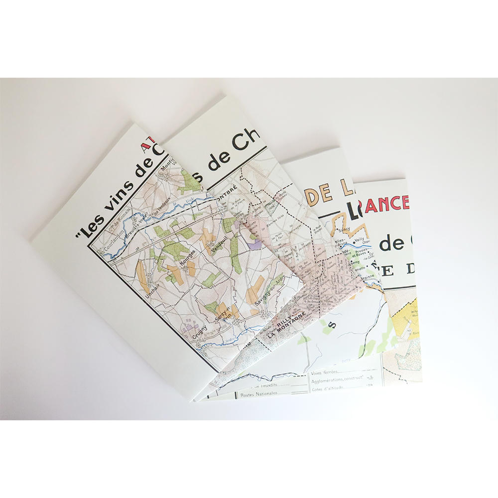 CHAMPAGNE BOXED BOOK & MAP SET