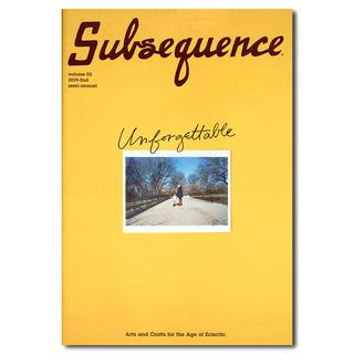 Subsequence volume 02 The Unforgettable Issue