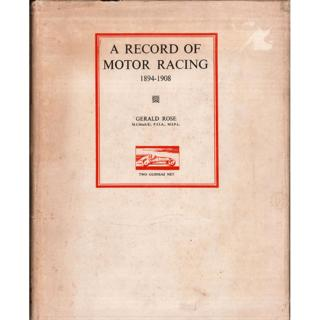 【古書】A RECORD OF MOTOR RACING 1894-1908