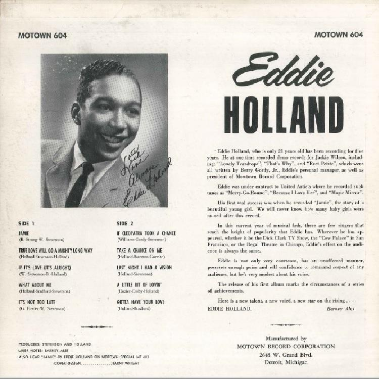 【LP】EDDIE HOLLAND/JAMIE
